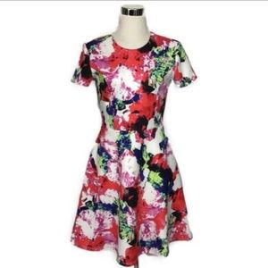 Milly for Design size 4 floral pattern dress